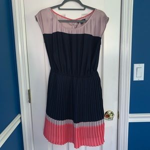 American Eagle Navy, Coral and Purple Stripe Dress